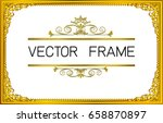gold photo frame with corner... | Shutterstock .eps vector #658870897