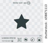 star web icon. vector design | Shutterstock .eps vector #658871113