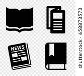 publication icons set. set of 4 ...