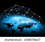 best internet concept of global ... | Shutterstock . vector #658878637