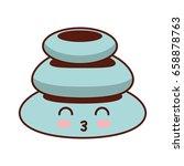 stones pile spa kawaii character | Shutterstock .eps vector #658878763
