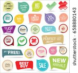 modern badges colorful... | Shutterstock .eps vector #658880143