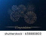 firework show isolated on blue... | Shutterstock .eps vector #658880803