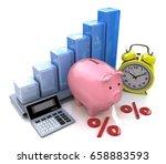 piggy bank concept. the...   Shutterstock . vector #658883593