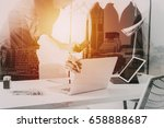 fashion designer working with... | Shutterstock . vector #658888687