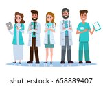 hospital medical staff team. ... | Shutterstock .eps vector #658889407