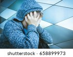 sad  lonely  unhappy  tired... | Shutterstock . vector #658899973