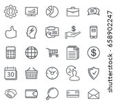 business abstract line icons.... | Shutterstock . vector #658902247