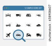 set of 12 editable shipment...