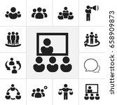 set of 12 editable business... | Shutterstock .eps vector #658909873