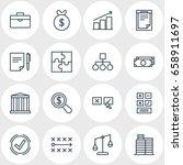 vector illustration of 16 trade ... | Shutterstock .eps vector #658911697