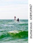 fly boarding near the beach. | Shutterstock . vector #658914967