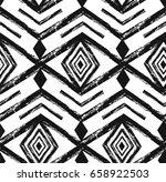 black tribal navajo vector... | Shutterstock .eps vector #658922503