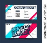 concert ticket card. element... | Shutterstock .eps vector #658924753