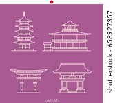 sights of japan  buildings of... | Shutterstock .eps vector #658927357