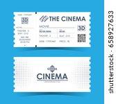 cinema ticket card. element... | Shutterstock .eps vector #658927633
