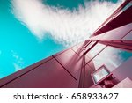 abstract burgundy purple modern ... | Shutterstock . vector #658933627