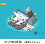pecial offer on business travel.... | Shutterstock .eps vector #658934113
