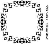 beautiful mandala pattern.... | Shutterstock .eps vector #658935823