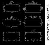 white vintage frames on the...   Shutterstock .eps vector #658935973