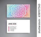 business card. vintage...   Shutterstock .eps vector #658937563