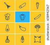 vector illustration of 12 food... | Shutterstock .eps vector #658942567
