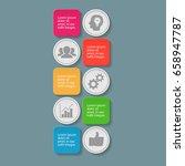 vector infographic template for ... | Shutterstock .eps vector #658947787