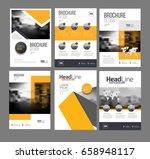 modern brochure design template ... | Shutterstock .eps vector #658948117