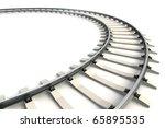 Isolated Railway. 3d Rendering
