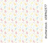 seamless pattern with colorful... | Shutterstock .eps vector #658962577