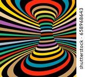 colorful vector op art pattern. ... | Shutterstock .eps vector #658968643