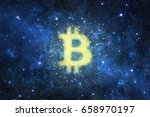 abstract bitcoin sign shape in... | Shutterstock . vector #658970197