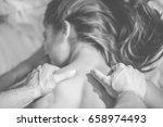 close up of boyfriend giving...   Shutterstock . vector #658974493
