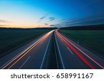 sunrise on the highway in the... | Shutterstock . vector #658991167