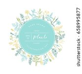vector hand drawn floral round... | Shutterstock .eps vector #658995877
