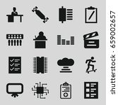board icons set. set of 16...   Shutterstock .eps vector #659002657