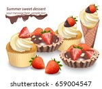 delicious sweets and desserts... | Shutterstock .eps vector #659004547