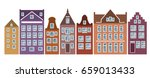 Amsterdam Style Houses. Laser...