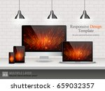 realistic computer  laptop ... | Shutterstock .eps vector #659032357