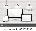 realistic computer  laptop ... | Shutterstock .eps vector #659032363