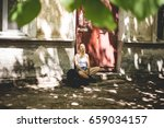 beautiful young woman traveling ...   Shutterstock . vector #659034157