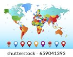 world map countries vector.... | Shutterstock .eps vector #659041393