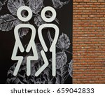 signs label male and female...   Shutterstock . vector #659042833