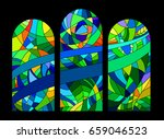 stained glass window | Shutterstock .eps vector #659046523