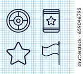 set of 4 ui outline icons such...