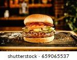 the perfect hamburger. burger... | Shutterstock . vector #659065537
