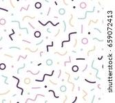delicate seamless memphis... | Shutterstock .eps vector #659072413