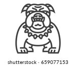 bulldog icon    illustration on ... | Shutterstock . vector #659077153