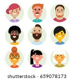 set of  avatars icons men and... | Shutterstock . vector #659078173