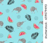 tropical trendy pattern with... | Shutterstock .eps vector #659079493